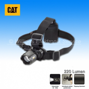 CAT Fokussierbare Stirnlampe, 220 Lumen CREE-LED